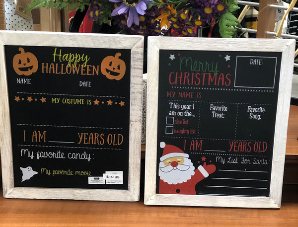 Reversible Halloween/Christmas Chalkboard