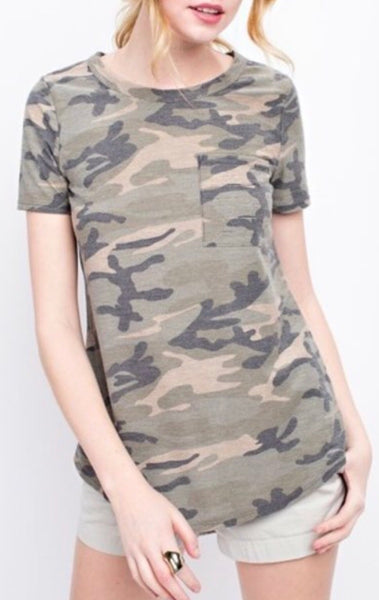 Camo Pocket Top (XL only)