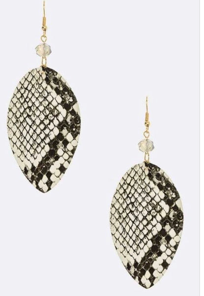 Snake Skin Earrings