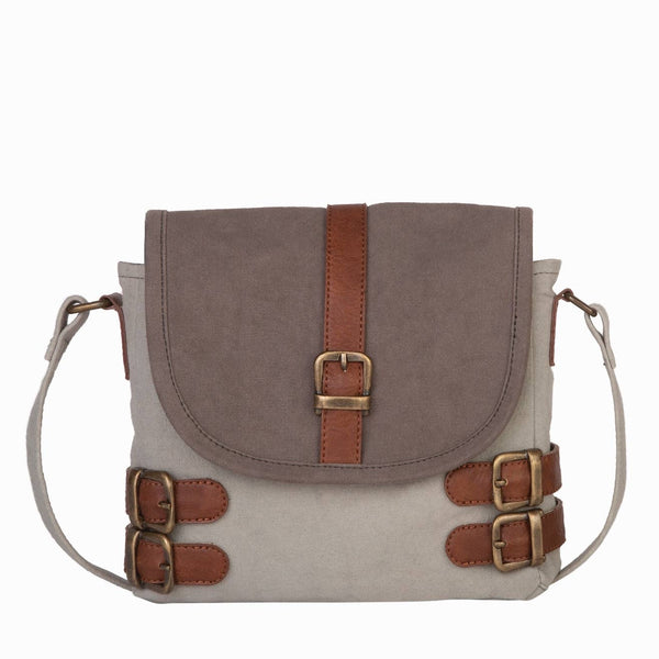Buckled Up Up-Cycled Canvas Crossbody