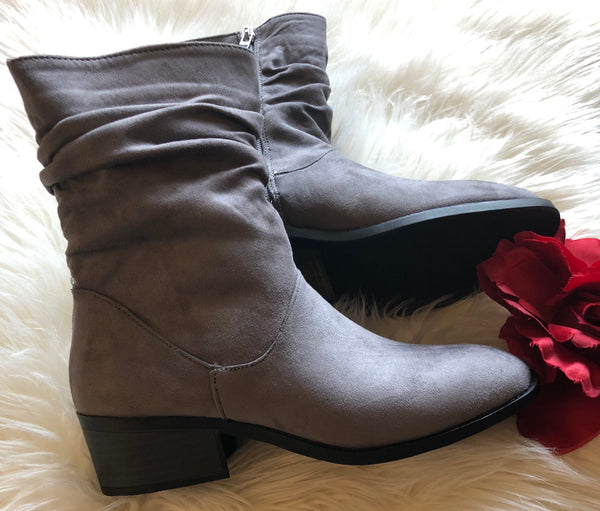 Grey Casual Boot