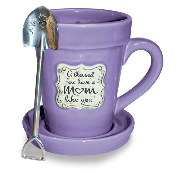 Flower Pot Mug: Violet-Mom