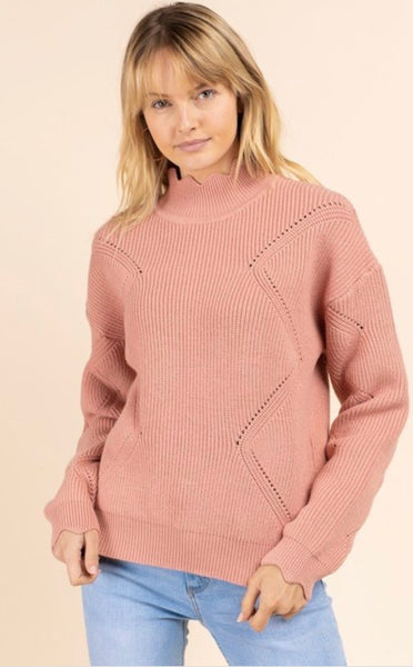 Scalloped Detail Sweater