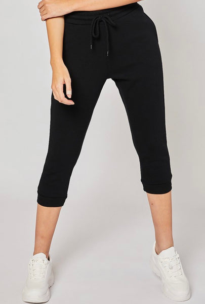Fleece High Rise Capri Jogger