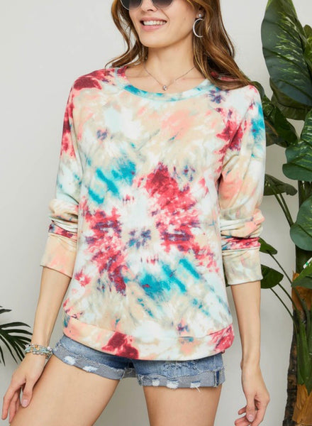 Multi Tie Dyed Top
