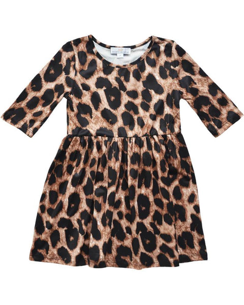 Leopard Pleated Dress