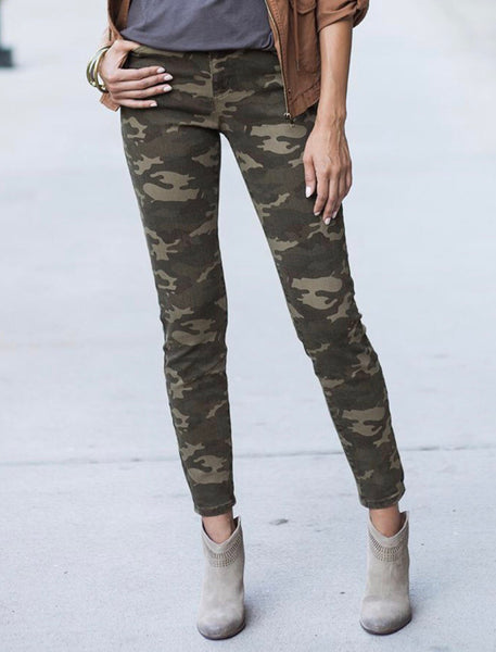 Camo Mid Rise Jeggings