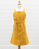 Sawyer Front Botton Mini Dress - Mustard