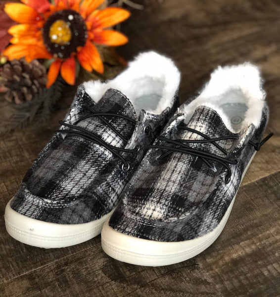Fall into Comfort Plaid Slip On Loafer