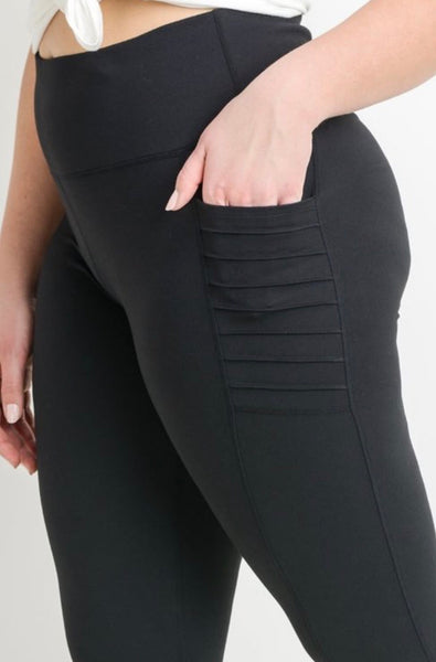 High waist Moto Full Mesh leggings