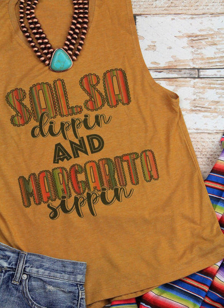 Salsa and Margaritas Muscle Tank