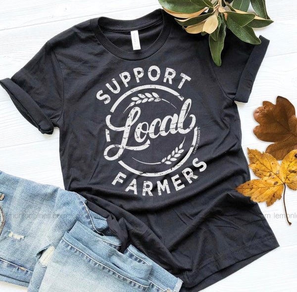 Support Local Farmer Tee - Black