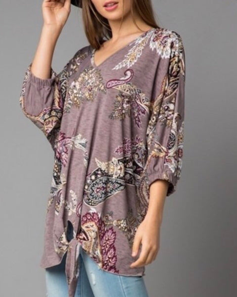 Paisley Tunic Top Plus