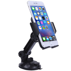 Car Mount, Mobile Phone Car Mount for iphone 6 Plus Samsung Galaxy s6 Cell Phone with 180 Degree Adjustable Arm(Black)