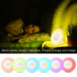 MOSCHE Wake-Up Light, sunrise simulator alarm clock with 6 Nature Sounds, FM Radio, Touch Control and USB Charger(White)