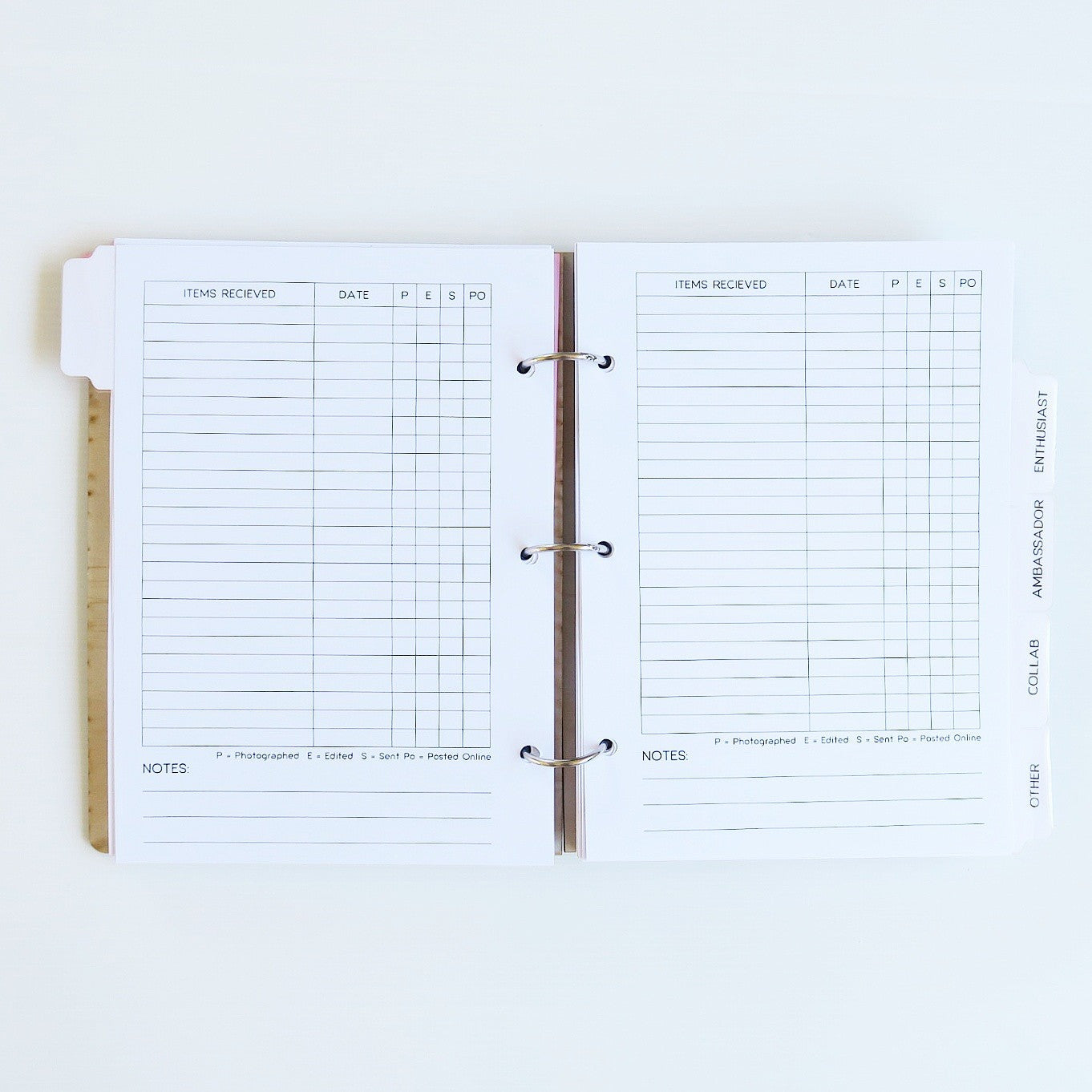Personalised 'Ultimate Brand Rep Organiser'