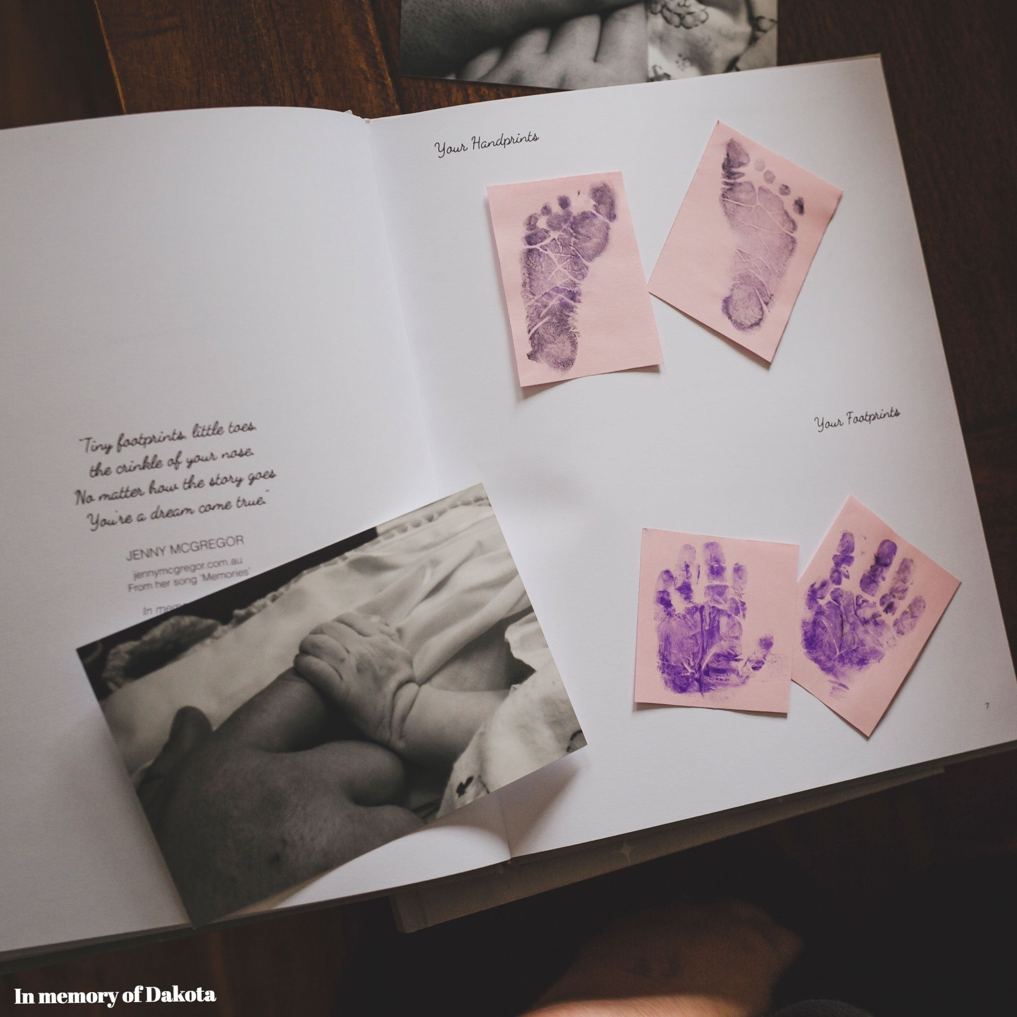 Remembering Me Baby Memorial Book