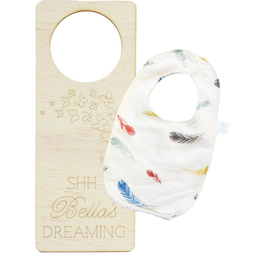 'Bib & Bed' Baby GIRL eco-friendly gift pack