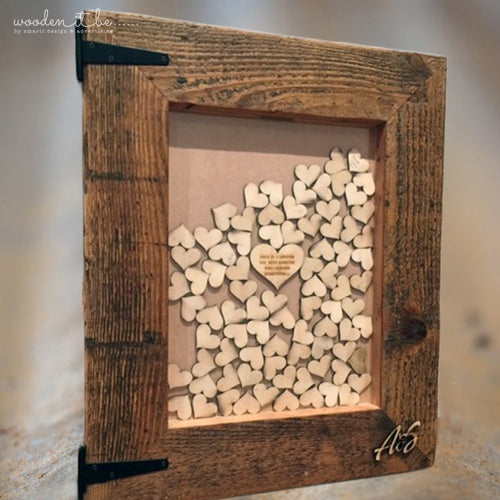 Rustic Guest Heart Frame (140)