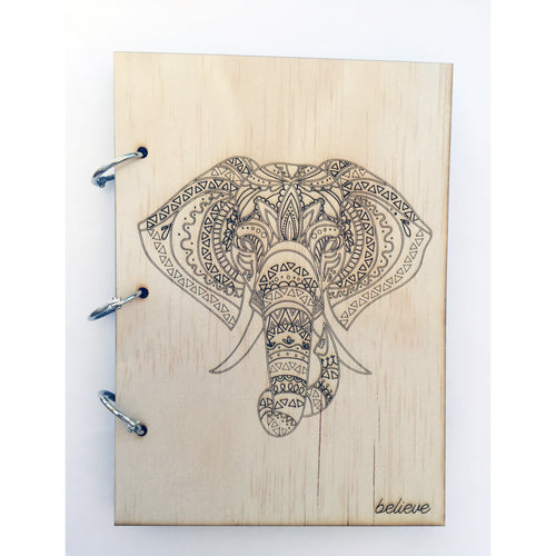 'Believe' Elephant inspired notepad
