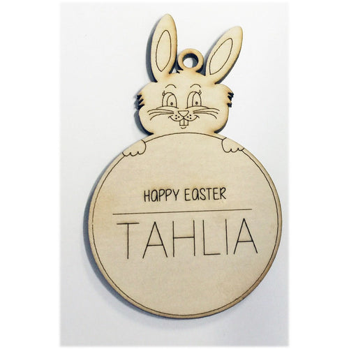 Personalised Easter Bunny Swing Tag