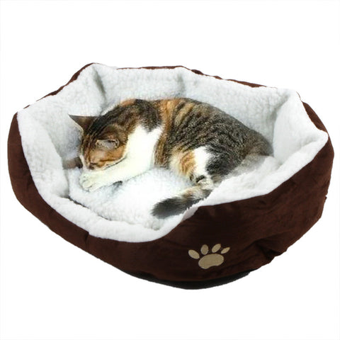 Cute Soft Winter Cat Bed  Mini House for Cat Pet Dog Sofa Bed