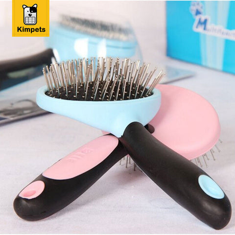 Dog Grooming Brushes and Combs with Massage Head Metal