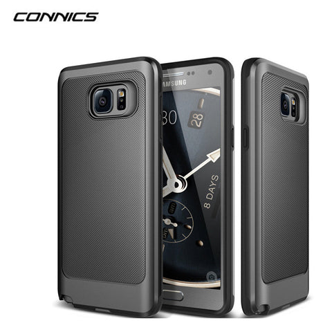 Rugged Rubber Dual Layer Shockproof Hard Case For Samsung Galaxy and Note
