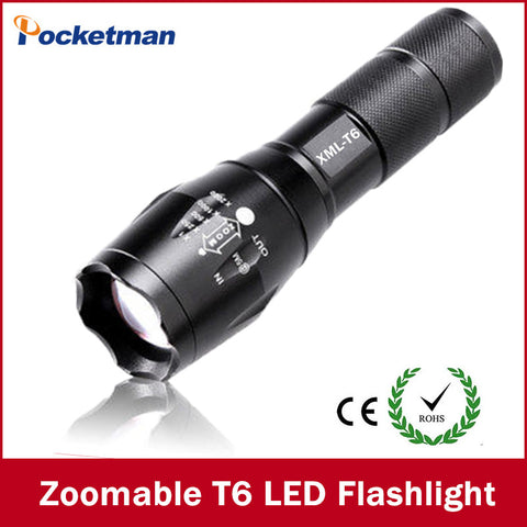 Zoomable cree LED Flashlight Torch light