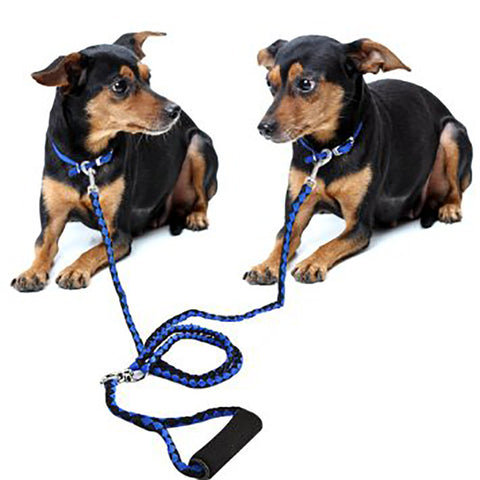 Hand-Made Double Pet Lead For Two Dogs 125CM
