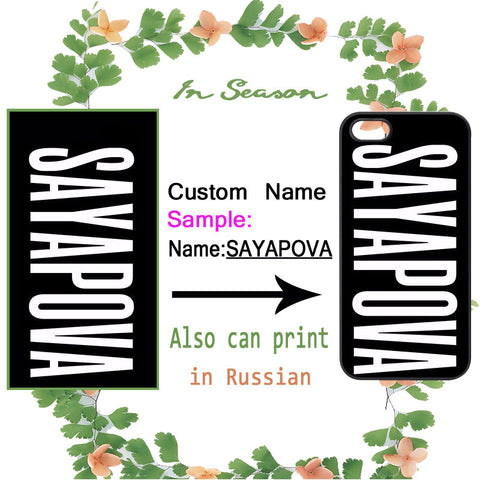 Custom Name Personalized Cover for iPhone and Samsung