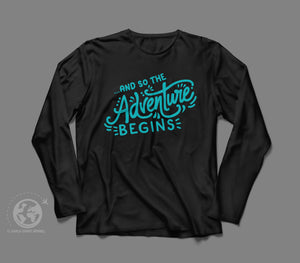 World Smart The Adventure Begins Long Sleeve Travel Shirt-World Smart Apparel