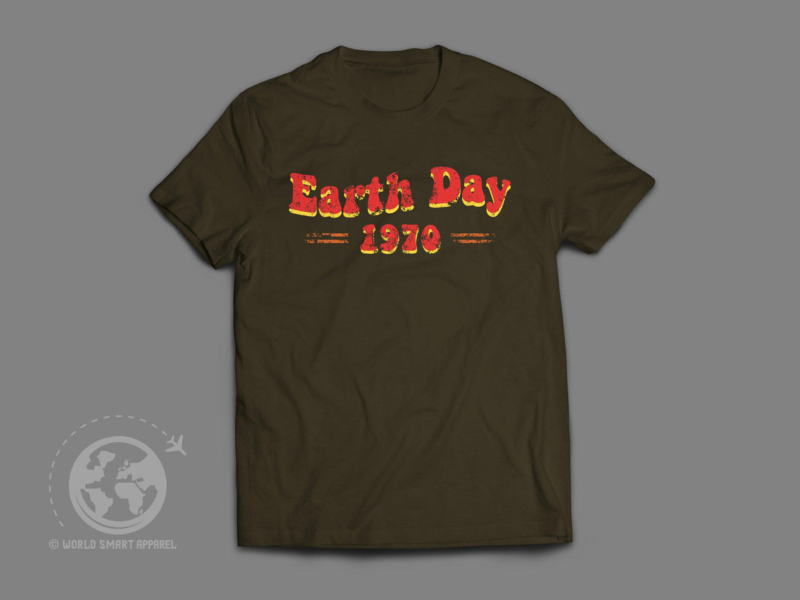 World Smart Earth Day Retro Travel T-Shirt-World Smart Apparel