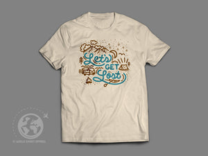 World Smart Let's Get Lost Travel T-Shirt-World Smart Apparel