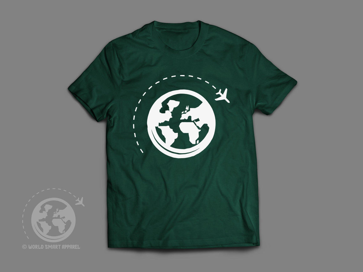 World Smart White Logo Travel T-Shirt-World Smart Apparel