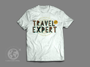 World Smart Travel Expert T-Shirt-World Smart Apparel