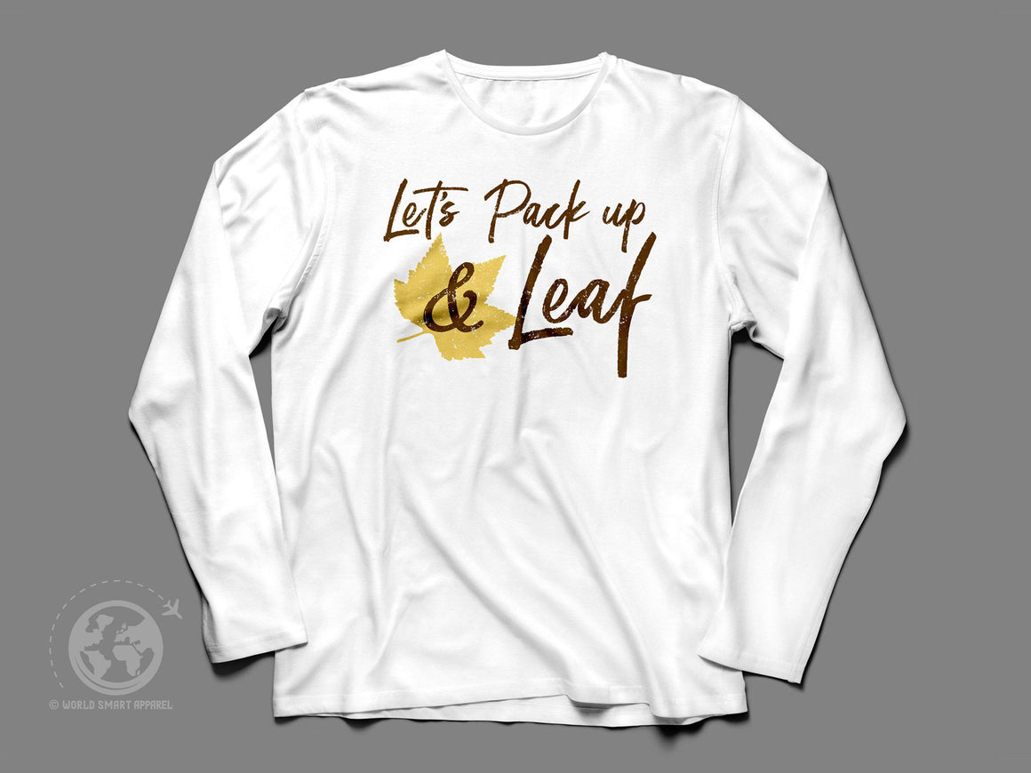 World Smart Pack Up and Leaf Longsleeve Travel T-Shirt-World Smart Apparel