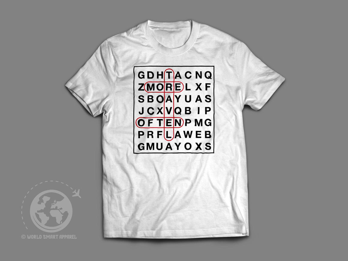 World Smart Word Puzzle Travel T-Shirt-World Smart Apparel