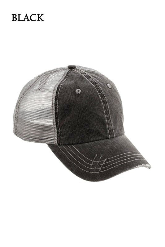 Distressed Ball Cap