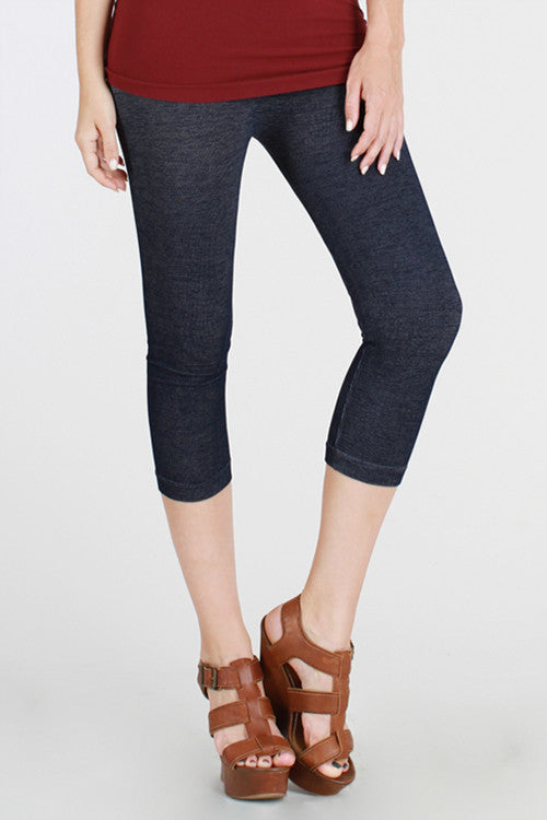 Two-Tone Capri Leggings