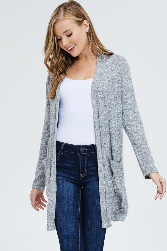 Long Cardigan with Pockets - 3 Colors - Restocked!