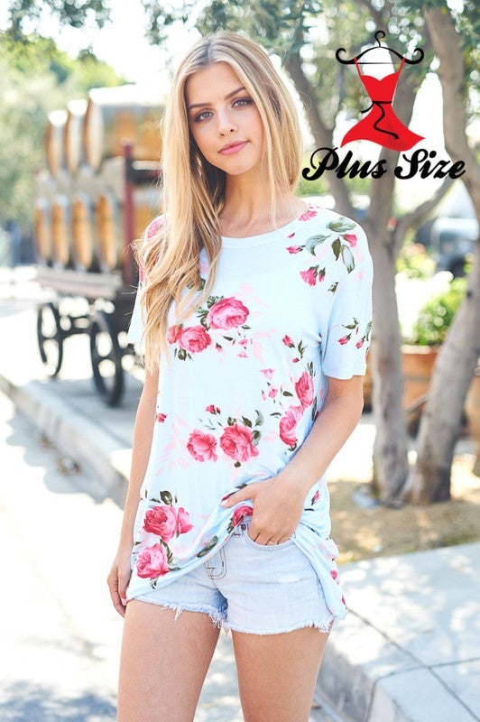 Floral Print Top  (3xl left)