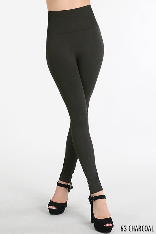 High Waisted Thick Leggings - Nikibiki