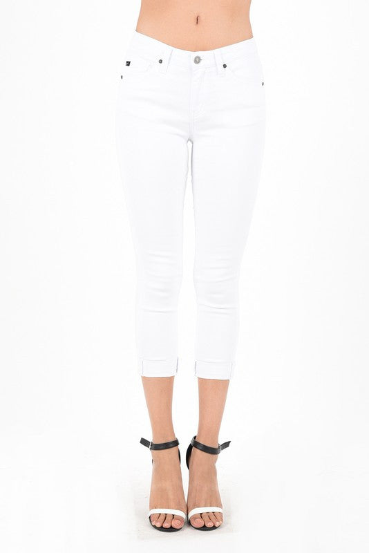 White Cropped Jean by Kan Can (size 3 left)
