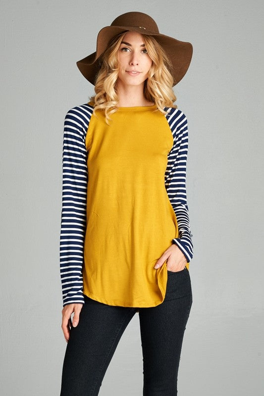 Stripe Raglan Top - Restocked All Colors!