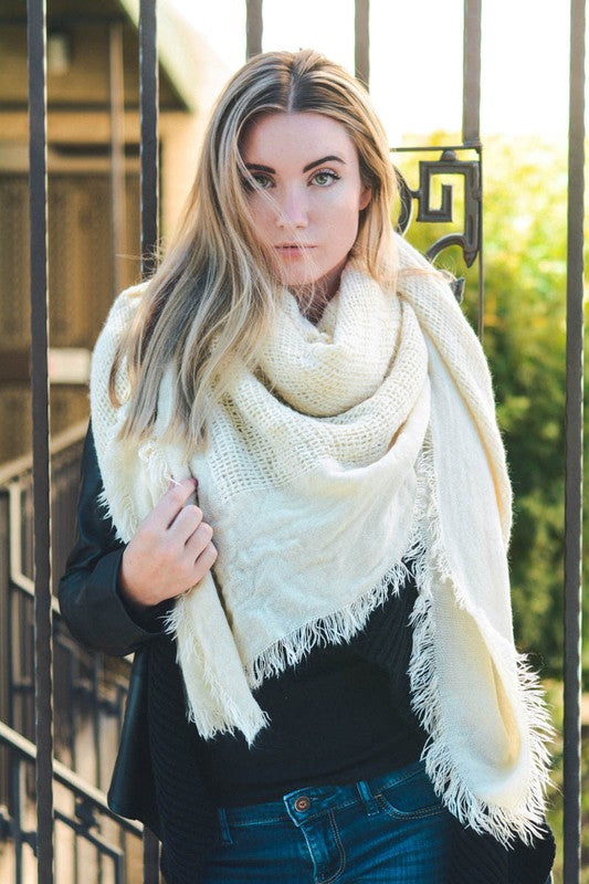 Open Weave Scarf - 3 Colors