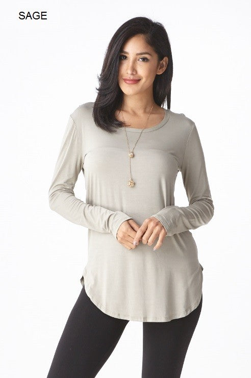 Long Sleeve Round Neck Top - Restocked & Colors Added!