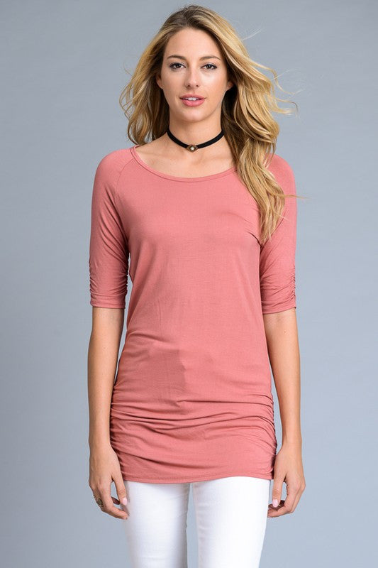 Best Selling Short Sleeve Tunic Top