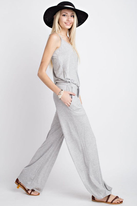 Comfy Casual Jumpsuit - Restocked (sm black left)