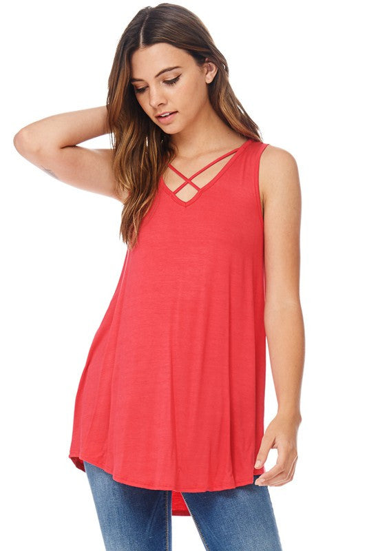 Criss Cross Tank Tunic